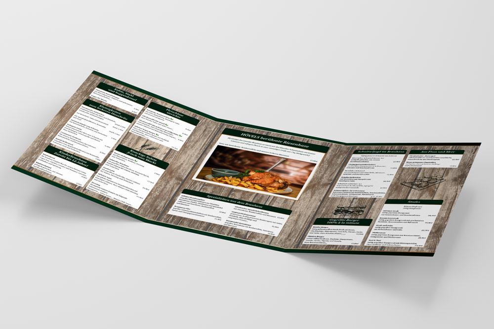 futec AG Referenz Hövels Hausbrauerei Speisenkarte